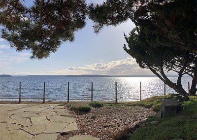 Seattle Sober Living Women - backyard, fieldstone patio and water view