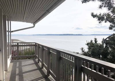 Seattle Sober Living Women - balcony with view of the water