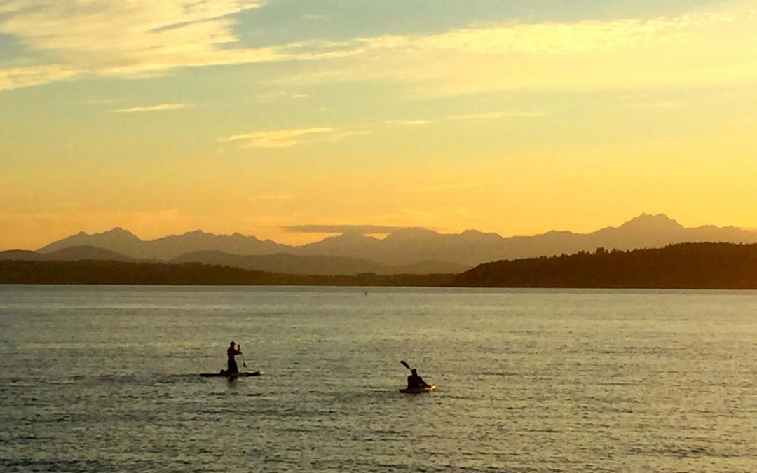 Community on a Sunset Paddle